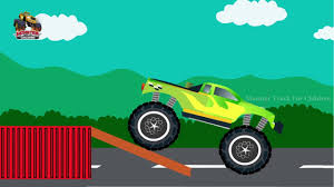 monster truck for children cartoon monster truck cartoon monster trucks jumping monster truck