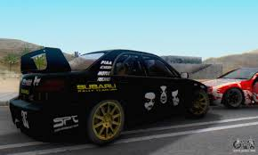 subaru impreza black subaru impreza wrc sti black metal rally for gta san andreas