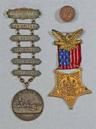 navy civil war caign medal with ladder five caigns medals