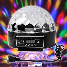 led disco ball light xl 10 voice remote control crystal ball disco dj stage light black