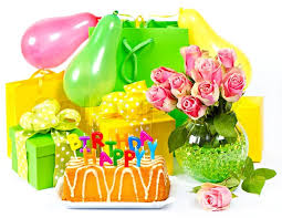 flowers and gifts birthday decoration flowers and gifts card concept stock photo