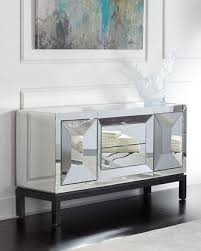 Glass Buffet Furniture by Brown Dovemont Buffet
