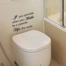 amazing bathroom quote decal vinyl art wall large size bathroom awesome quote decal you sprinkle when tinkle