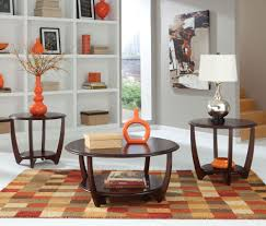 3 piece end table set standard furniture seattle ii 3 piece coffee table set in dark