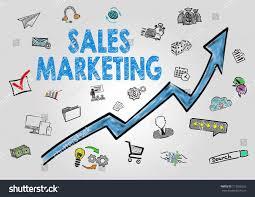 sales key words sales marketing concept arrow keywords icons stock illustration