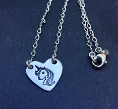 sterling silver necklace jewelry images Unicorn sterling silver heart charm necklace for her jpeg