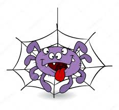 funny spider tongue out halloween vector illustration u2014 stock