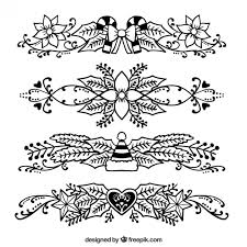 pack of sketches of poinsettia ornaments with christmas elements