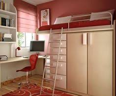 Loft Bed With Closet Underneath Loft Bed Over Closet This Is Soo Cool Storage And A