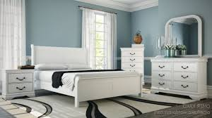 antique white bedroom furniture white wooden bed frame beside