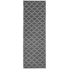 grey geometric pattern floor runner the blue door