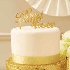 gold cake topper sparkling gold best day cake topper by