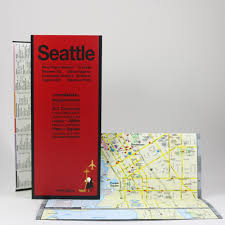 Seattle Map Downtown by Seattle Map U2013 Red Maps