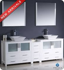 bathroom vanity with side cabinet 84 fresca torino fvn62 361236wh vsl modern double sink bathroom