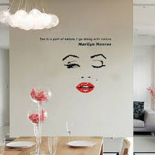 popular marilyn monroe wall stickers buy cheap marilyn monroe wall