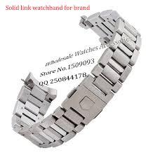 solid stainless steel bracelet images New arrival black stainless steel watchband bracelets curved end jpg
