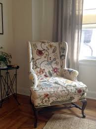 vintage hand embroidered wingback armchair craigslist oh love