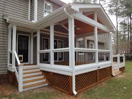 Screened In Patio Designs by Exterior Elegant Image Of Home Exterior Decoration Using Dark