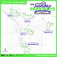 Map Portland by Sunday Parkways 2017 The City Of Portland Oregon
