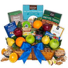 healthy snack gift basket fruit healthy snacks gift basket by gourmetgiftbaskets