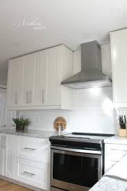 IKEA Kitchen Reno Grimslov Cabinets  Backsplash Down To Counter - Ikea kitchen backsplash