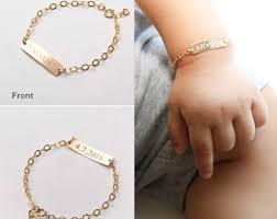 customized baby bracelets chain link bracelets etsy