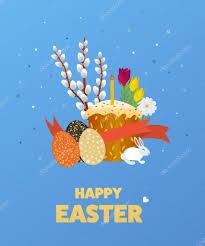 happy easter illustration with eggs u2014 stock vector ideyweb