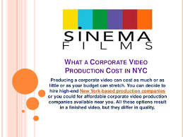 nyc production companies what a corporate production cost in nyc
