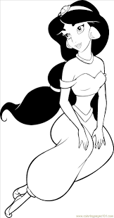 princesses jasmine coloring prints pinterest princess
