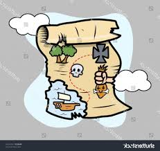 Treasure Island Map Best 15 Stock Vector Treasure Island Map Cartoon Illustration Design