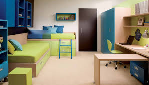 Shared Bedroom Small Shared Bedroom Ideas Wooden Bunk Bed With Desk Underneath
