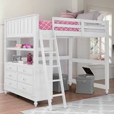 Girls Bed With Desk by Full Loft Bed With Desk White White Bunk Beds For Girls White Loft