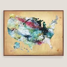pottery barn usa map wall beautiful united states map canvas
