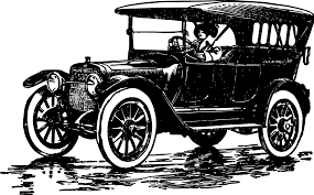 old cars black and white car clipart