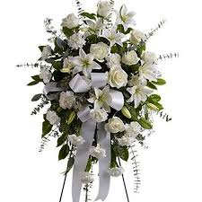 funeral flower white funeral spray w roses deliver funeral flowers today