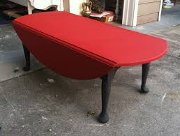 Red Round Coffee Table - coffee table elegant drop leaf coffee table design ide