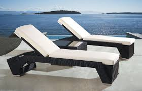 Patio Recliner Lounge Chair by Patio Wicker Lounge Chair With White Cushion Chairs Plus Pics