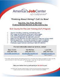 Calljobs On The Job Training Opportunity U2013 Workforce Development Board