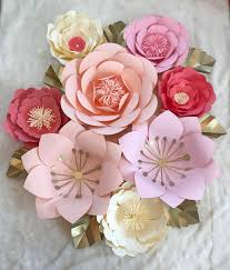 large 8 nursey set paper flowers customize your large