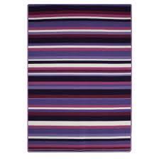 Kitchen Rugs Washable by Luna Purple Stripes Washable Kitchen Rug Kukoon