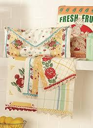 kitchen towel stone art style design living amazon com moda home vintage style fresh fruit in yellow kitchen