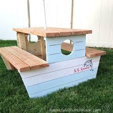 Kids Wooden Picnic Table Build A Nautical Kids Picnic Table Hometalk