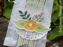 Decorated Paper I Love 2 Cut Paper Decorated Paper Bag Using Pretty Posies