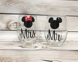 his and hers wedding gifts disney wedding gift etsy