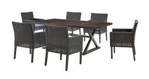7 Piece Outdoor Patio Dining Set - riverview outdoor patio dining set denim blue 7 piece u2013 la z