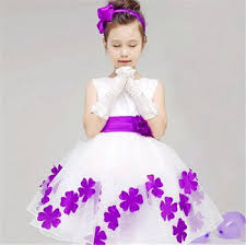 gown dress with price light purple flower gown dress with cheap price ribbon