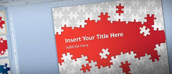 free puzzle pieces powerpoint template for presentations