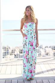 strapless floral maxi dress with pockets maxi dresses u2013 saved by