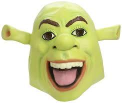 smiffy u0027s shrek latex mask smiffys amazon co uk toys u0026 games