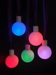 3 frosted led multi color changing remote